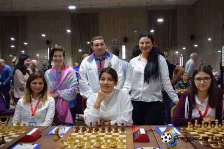 Ermənistan yığmasına qalib gələn qadın şahmatçılarımız Avropa çempionatında tarix yazdı!