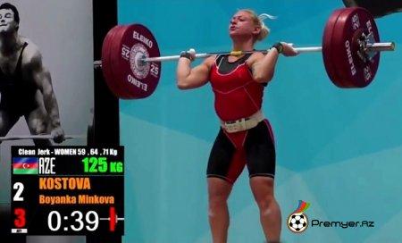 Boyanka Kostova ağır atletika üzrə beynəlxalq turnirin qalibi oldu