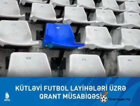 AFFA kütləvi futbol layihələri üzrə qrant müsabiqəsi elan etdi
