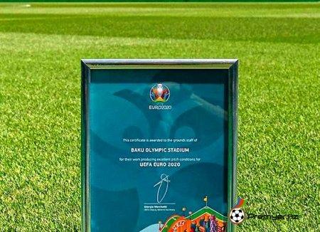 UEFA Bakı Olimpiya Stadionunu təltif etdi